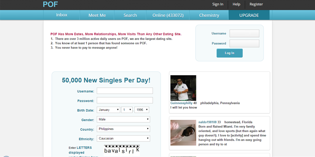 Plentyoffish Com 100 Free Online Hookup Service For Singles